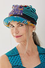 Tucked Brim Hat #1 by Mieko Mintz  (One Size, Cotton Hat)