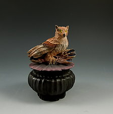 Owl Box by Nancy Y. Adams (Ceramic Box)