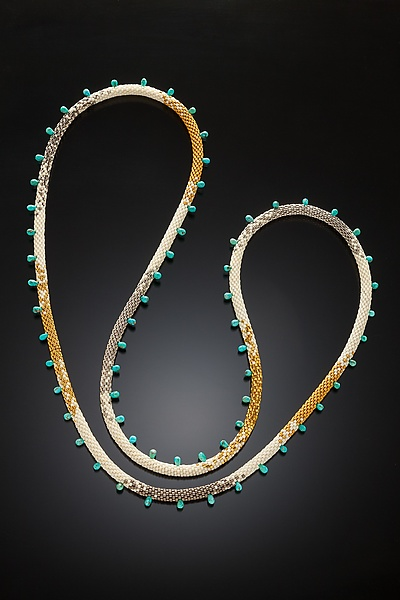 Myths and Legends Turquoise and Beaded Necklace