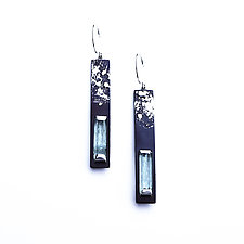 Long Aquamarine Earrings by Deborah Vivas and Melissa Smith (Gold, Silver & Stone Earrings)