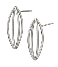 Pod Earrings by Peg Fetter (Silver Earrings)