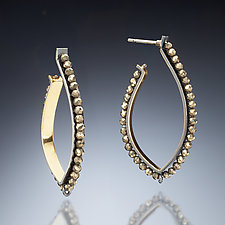 Gold Inside Hoop Earrings by Susan Kinzig (Gold, Silver & Stone Earrings)