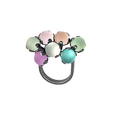 Pastel Fidget Ring by Nina Scala (Silver & Stone Ring)