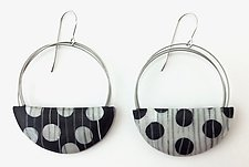 Large Wire Loop Earrings by Bonnie Bishoff and J.M. Syron (Steel & Polymer Earrings)