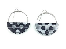 Loop and Dot Earrings by Bonnie Bishoff and J.M. Syron (Steel & Polymer Earrings)