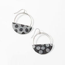 Loop and Dot Earrings by Bonnie Bishoff and J.M. Syron (Steel & Polymer Earrings)