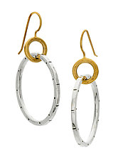 Betsy Hoop Earrings by Jodi Brownstein (Gold & Silver Earrings)