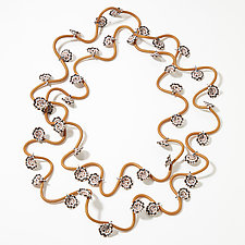 Golden Vine Necklace by David Forlano and Steve Ford (Polymer Necklace)