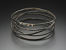 Wrap Bracelet by Peg Fetter (Gold & Steel Bracelet)