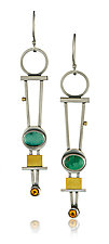 Trellis Earrings by Michele LeVett (Gold, Silver & Stone Earrings)