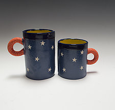 White Star Mug by Vaughan Nelson (Ceramic Mug)