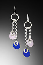 Baroque Flat Bead Earrings by Eloise Cotton (Art Glass Earrings)