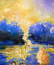 Sunburst by Judy Hawkins (Oil Painting)