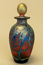 Ruby Wisteria Perfume Bottle by Carl Radke (Art Glass Perfume Bottle)