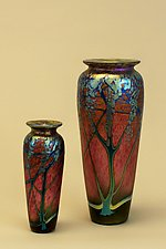Ruby Wisteria Vase by Carl Radke (Art Glass Vase)