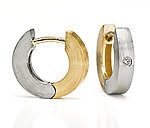 Everyday Hoops by Catherine Iskiw (Gold, Palladium & Stone Earrings)