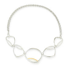Reuleaux Triangle Necklace by Susan Panciera (Gold, Silver & Copper Necklace)