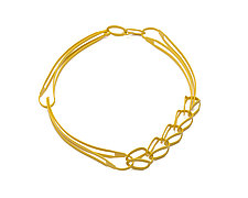 Side Chain Combo Necklace by Ashley Buchanan (Brass Necklace)