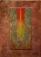 Golden Reyes 08 in Red by Wolfgang Gersch (Giclee Print on Aluminum)
