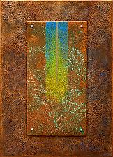 Golden Reyes 07 in Blue by Wolfgang Gersch (Giclee Print on Aluminum)