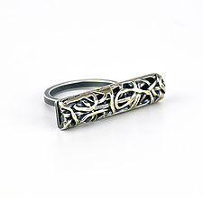 Tangle Bar Ring by Janet Blake (Gold or Silver Ring)