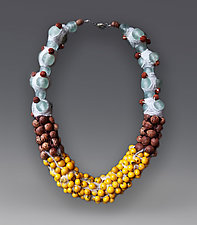 Organic Necklace by Hilary Hertzler (Glass & Silk Beaded Necklace)