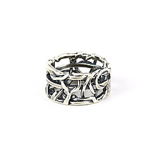 Tangle Band by Janet Blake (Gold or Silver Ring)