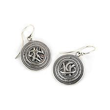 Tangle Orbit Earrings by Janet Blake (Gold or Silver Earrings)