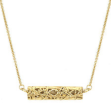 Tangle Bar Necklace by Janet Blake (Gold or Silver Necklace)