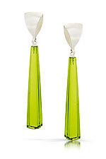 Spinnaker Long Drop Earrings by Thea Izzi (Silver & Stone Earrings)
