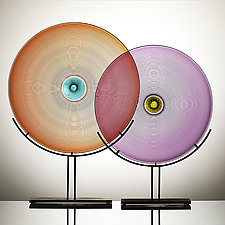 Color Wheel Sculpture by Vetro Vero (Art Glass Sculpture)
