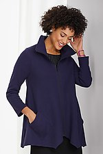 Mini Rib Sassy Cowl Jacket by F.H. Clothing Co.  (Knit Jacket)