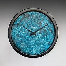 Verdigris Nate Wall Clock by Leonie  Lacouette (Metal Clock)