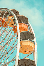 Pacific Park Ferris Wheel No. 3 by Dario Preger (Color Photograph)