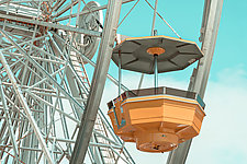 Pacific Park Ferris Wheel No.1 by Dario Preger (Color Photograph)