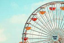 Pacific Park Ferris Wheel by Dario Preger (Color Photograph)