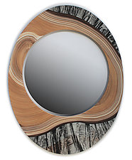 Fjord by Ingela Noren and Daniel  Grant (Wood Mirror)
