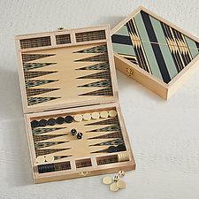 Sybil Seafoam Backgammon Set by Wolfum (Wood Game)