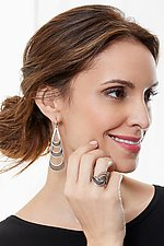 Triple Drop Earrings by Caitie Sellers (Silver & Copper Earrings)