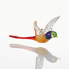 Come Fly with Me by Kevin McKay, Maki Kawakubo, and Kirsten Loewen (Art Glass Ornament)