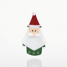 Kris Kringle by Dianne Popik (Art Glass Ornament)