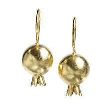 Punica Granatum Earrings by Boline Strand (Gold Earrings)