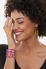 Thin Rectangle Cuff Bracelet by Melissa Stiles (Steel Bracelet)
