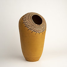 Ochre Nest by Hannie Goldgewicht (Ceramic Vessel)