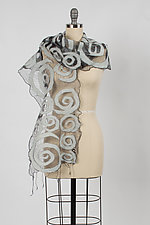 Spiral Scarf by Barbara Poole (Silk & Wool Scarf)
