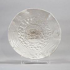 White on White Platter by Lois Sattler (Ceramic Platter)