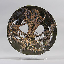 Steel Platter with Gold Accents by Lois Sattler (Ceramic Platter)
