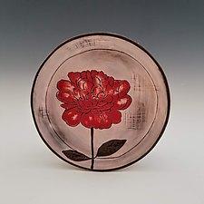 Peony Dessert Plate by Whitney Smith (Ceramic Platter)