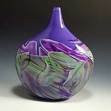 Petite Pod Transformation Vessel by Mark Rosenbaum (Art Glass Vessel)