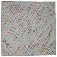 Bits on White by Judith Larzelere (Fiber Wall Hanging)